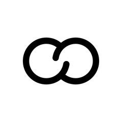 Rings flat icon