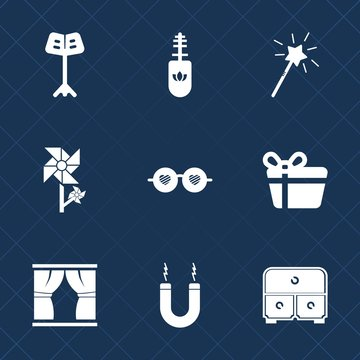 Premium set with fill icons. Such as music, drawer, magic, musician, holiday, fantasy, blossom, pink, summer, glasses, cosmetic, floral, orchestra, star, hippie, beauty, magician, mascara, box, makeup