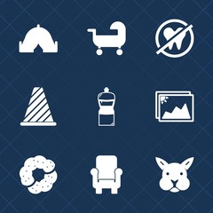 Premium set with fill icons. Such as leisure, equipment, baby, frame, outdoor, kid, image, rabbit, background, dental, sweet, adventure, picture, pram, health, dentist, summer, street, traffic, sign
