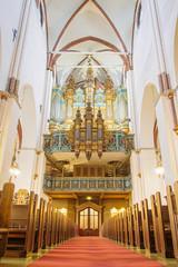 Riga Cathedral pipe organ (Dome Pipe Organ) in Riga Cathedral (Latvia).