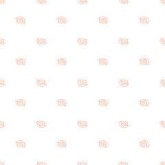 Seamless pattern of cartoon outline snail