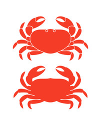 Crab silhouette. Isolated crab on white background