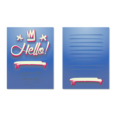 Bright greeting card, invitation to a party