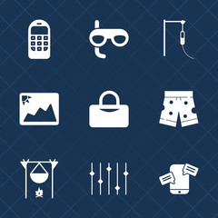Premium set with fill icons. Such as health, wear, technology, fitness, snorkel, hospital, pharmacy, frame, fireplace, sea, medicine, white, vacation, old, mobile, picture, image, photography, doctor