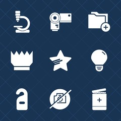 Premium set with fill icons. Such as jewelry, shape, virus, archive, privacy, photography, medicine, picture, energy, research, no, information, motel, digital, equipment, photographer, office, sign