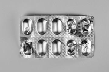 Metallic used medicine foil packaging