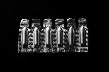 Blister pack of suppositories