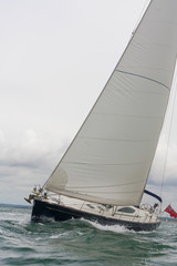 Sailing Boat Yacht on a Stormy Day