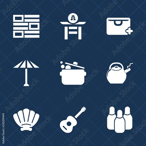 Premium Set With Fill Icons Such As Marine Web Sale Cook