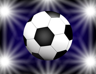 Football, soccer Ball on bright Background with Space for Your Text.