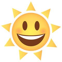 Sonne Emoji lachend