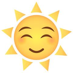 Sonne Emoji glücklich