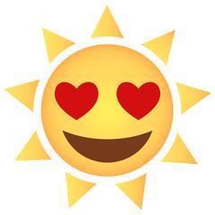 Sonne Emoji Herzaugen