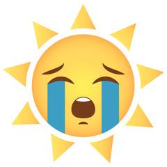 Sonne Emoji weinend