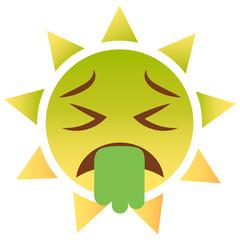 Sonne Emoji Erbrechen