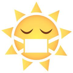 Sonne Emoji krank