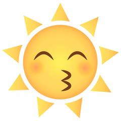 Sonne Emoji Kussmund