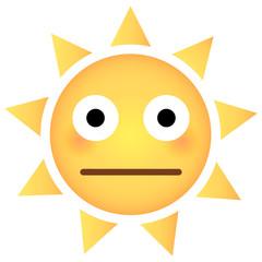 Sonne Emoji peinlich berührt