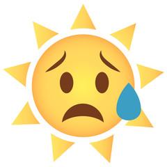 Sonne Emoji traurig