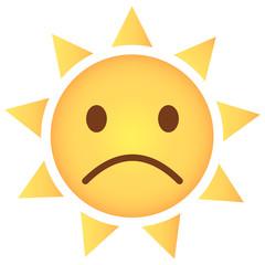 Sonne Emoji unglücklich