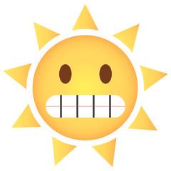 Sonne Emoji grinsend