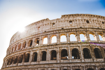 ancient beautiful Colosseum ruins in Rome, Italy