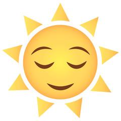 Sonne Emoji zufrieden