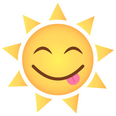 Sonne Emoji frech