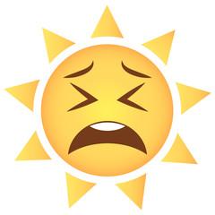 Sonne Emoji zweifelnd