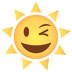 Sonne Emoji zwinkernd