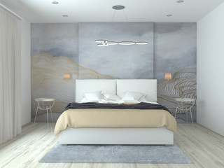 modern stylish design made with 3d max