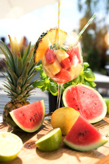 Fresh fruits in summer
