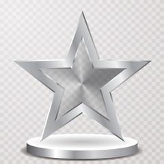 trans silver star podium