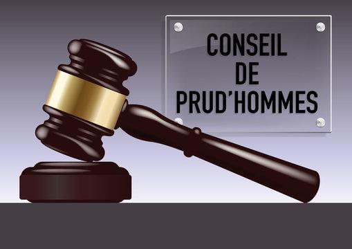 justice - tribunal - maillet - juge - jugement - judiciaire, juridique, entreprise, employer, salarier, syndicat
