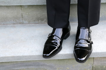 Polished shoes for the evening's festivities.