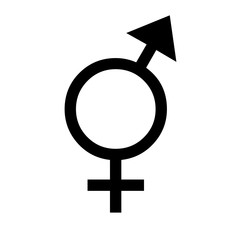 Gender equal sign silhouette