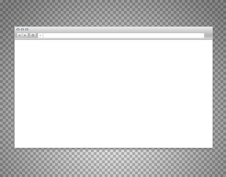 Website window mockup isolated on transparent background. Layered illustration