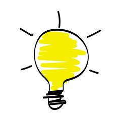 light bulb cartoon hand drawn vector