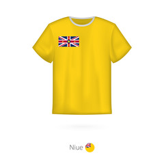 T-shirt design with flag of Niue