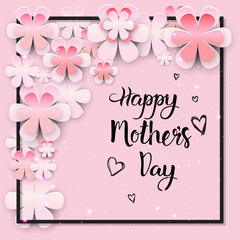 Beautiful Happy Mothers Day Greeting Card Design Vector Illustration