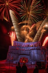 The Ice Castle was part of the Annual Winterfest in Superior, Wisconsin and Duluth Minnesota and was complete with Fireworks