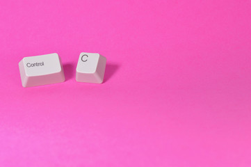 ctrl c keys on pink background