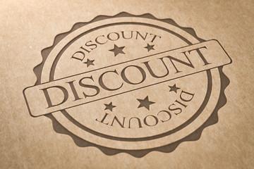 Karton Stempel Discount
