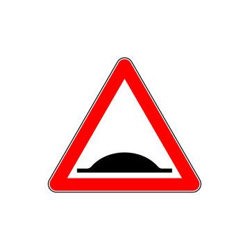 Warning Bumps Road sign. Vector
