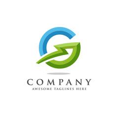 Letter G lightning logo icon design template elements, flash letter g logo vector, strong letter g logo