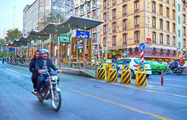 The main street in Tehran, Iran