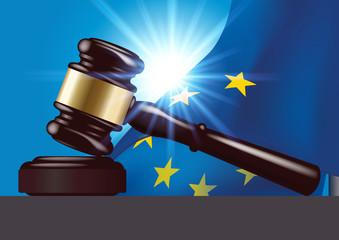 justice - tribunal - maillet - marteau - juge -européenne - Europe - européen - jugement