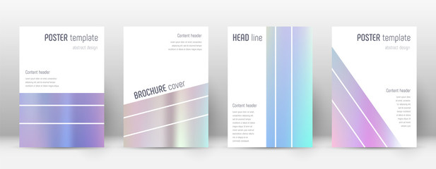 Flyer layout. Geometric resplendent template for Brochure, Annual Report, Magazine, Poster, Corporate Presentation, Portfolio, Flyer. Alluring pastel hologram cover page.