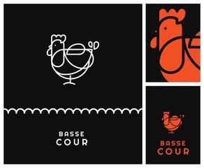 identité de marque pour un producteur spécialisé dans la production d'oeufs