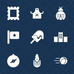 Premium set with fill icons. Such as pattern, america, dessert, food, bed, vintage, dragon, lady, fresh, photo, game, compass, football, ball, picture, butterfly, north, sign, art, ice, restaurant